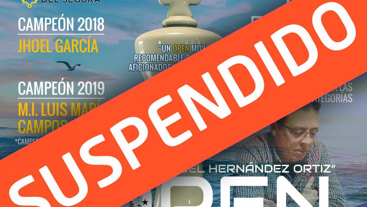 SUSPENDIDO EL III OPEN