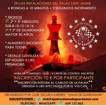 TORNEO DE AJEDREZ SOLIDARIO             «LA PALMA – ISLA BONITA»